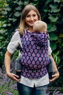 Ergonomic Carrier, Toddler Size, jacquard weave 100% cotton - wrap conversion from JOYFUL TIME WITH YOU - Second Generation