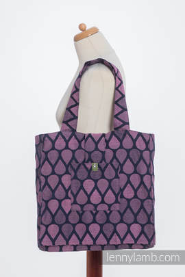 Shoulder bag made of wrap fabric (100% cotton) - JOYFUL TIME WITH YOU - standard size 37cmx37cm