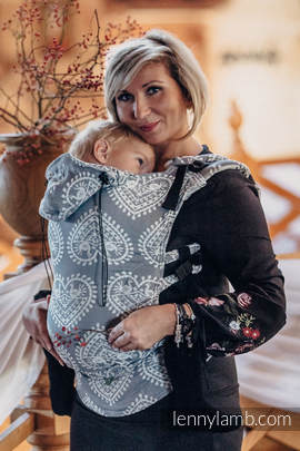 Ergonomic Carrier, Toddler Size, jacquard weave 100% cotton - wrap conversion from FOLK HEARTS - Second Generation