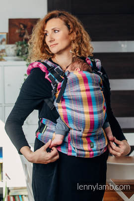 LennyUp Carrier, Standard Size, herringbone weave 100% cotton - wrap conversion from LITTLE HERRINGBONE CITYLIGHTS