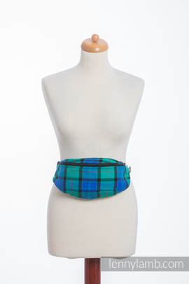 Waist Bag made of woven fabric, (100% cotton) - COUNTRYSIDE PLAID