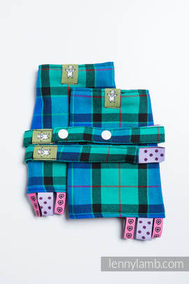 Drool Pads & Reach Straps Set, (100% cotton) - COUNTRYSIDE PLAID