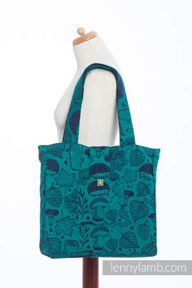 Shoulder bag made of wrap fabric (100% cotton) - UNDER THE LEAVES - standard size 37cmx37cm