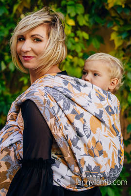Baby Wrap, Jacquard Weave (100% cotton) - WHIFF OF AUTUMN - size XS