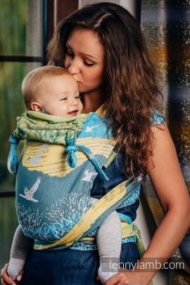 WRAP-TAI carrier Toddler with hood/ jacquard twill / 100% cotton / WANDER