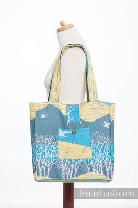 Shoulder bag made of wrap fabric (100% cotton) - WANDER - standard size 37cmx37cm