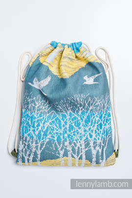 Sackpack made of wrap fabric (100% cotton) - WANDER - standard size 32cmx43cm