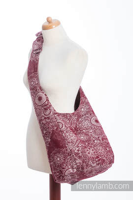 Hobo Bag made of woven fabric, 100% cotton - WILD WINE