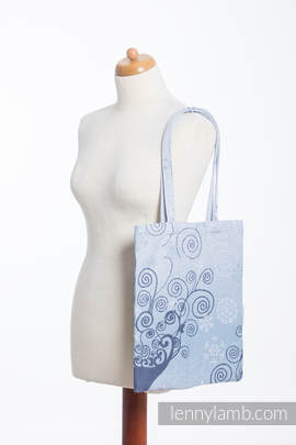 Shopping bag made of wrap fabric (100% cotton) - WINTER PRINCESSA