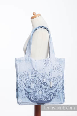Shoulder bag made of wrap fabric (100% cotton) - WINTER PRINCESSA - standard size 37cmx37cm