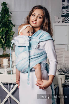 WRAP-TAI carrier Toddler with hood/ jacquard twill / 60% cotton 28% linen 12% tussah silk / ARCTIC LACE