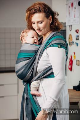 Baby Sling, Broken Twill Weave, 100% cotton,  SMOKY - MINT - size XS