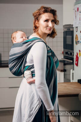 Baby Sling, Broken Twill Weave, 100% cotton,  SMOKY - MINT - size L