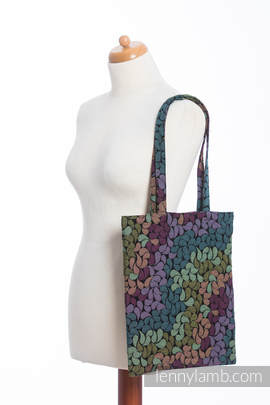 Shopping bag made of wrap fabric (100% cotton) - COLORS OF RAIN (grade B)