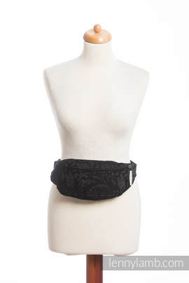 Waist Bag made of woven fabric, (96% cotton, 4% metallised yarn) - TWISTED LEAVES METAL & DUST