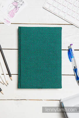 Calendar 2018 with jacquard fabric hard cover - size A4 - EMERALD
