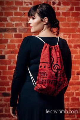 Sackpack made of wrap fabric (100% cotton) - SYMPHONY FLAMENCO - standard size 32cmx43cm