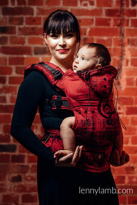 Ergonomic Carrier, Toddler Size, jacquard weave 100% cotton - wrap conversion from SYMPHONY FLAMENCO - Second Generation