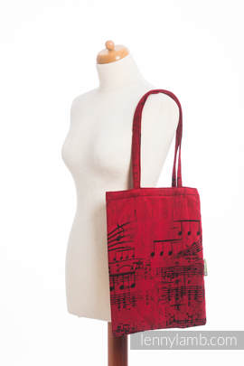 Shopping bag made of wrap fabric (100% cotton) - SYMPHONY FLAMENCO