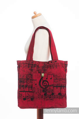 Shoulder bag made of wrap fabric (100% cotton) - SYMPHONY FLAMENCO - standard size 37cmx37cm
