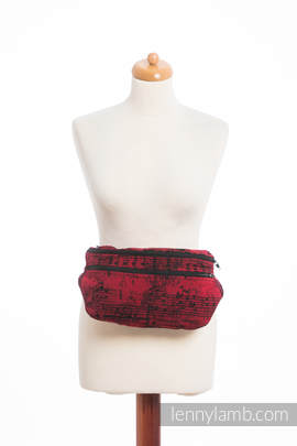 Waist Bag made of woven fabric, size large (100% cotton) - SYMPHONY FLAMENCO