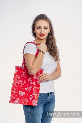 Shopping bag made of wrap fabric (100% cotton) - SWEET NOTHINGS