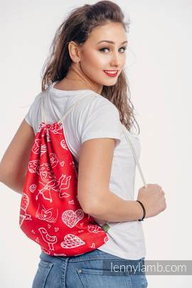 Sackpack made of wrap fabric (100% cotton) - SWEET NOTHINGS - standard size 32cmx43cm