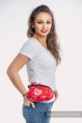 Waist Bag made of woven fabric, (100% cotton) - SWEET NOTHINGS