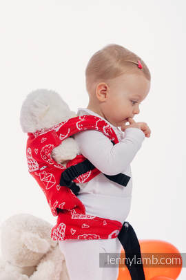 Doll Carrier made of woven fabric, 100% cotton - SWEET NOTHINGS