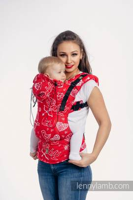 Ergonomic Carrier, Baby Size, jacquard weave 100% cotton - SWEET NOTHINGS - Second Generation