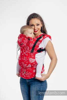 Ergonomic Carrier, Toddler Size, jacquard weave 100% cotton - wrap conversion from SWEET NOTHINGS - Second Generation