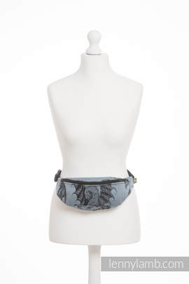 Waist Bag made of woven fabric, (100% cotton) - DRAGON STEEL BLUE