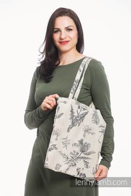 Shopping bag made of wrap fabric (100% cotton) - HERBARIUM