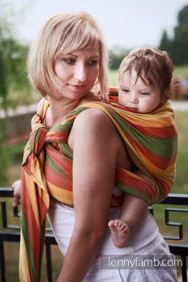 Baby Sling, Broken Twill Weave (bamboo + cotton) - Spring - size XS