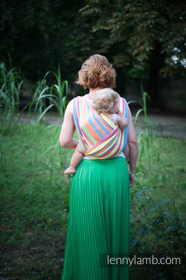 Baby Sling, Broken Twill Weave (bamboo + cotton) - Pinacolada - size L (grade B)