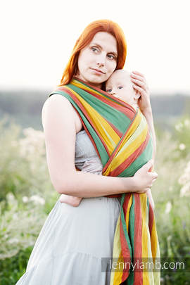 Baby Sling, Broken Twill Weave (100% cotton) - INDIAN SUMMER - size XS