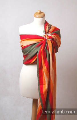 Ring Sling - 100% Cotton - Broken Twill Weave - with gathered shoulder -  Autumn (grade B)