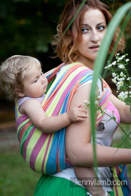 Baby Sling, Broken Twill Weave (bamboo + cotton) - Pinacolada - size L