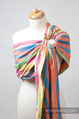 Ring Sling, Broken Twill Weave (bamboo + cotton), with gathered shoulder - Pinacolada (grade B)