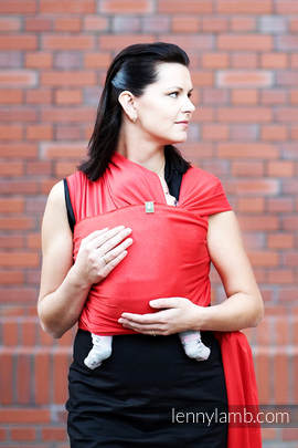 Stretchy/Elastic Baby Sling - Ruby - standard size 5.0 m (grade B)