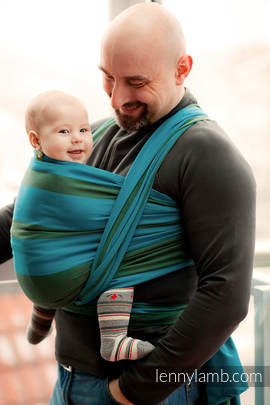 Baby Sling, Broken Twill Weave (100% cotton) - MOUNTAIN SPRING - size XS