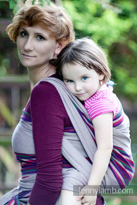 Baby Sling, Broken Twill Weave (100% cotton) - HEATHER NIGHTS - size XS