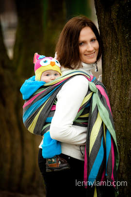 Baby Sling, Broken Twill Weave (100% cotton) - NIGHT - size XS