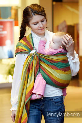 Ring Sling - 100% Cotton with gathered shoulder - Broken Twill Weave -  Indian Summer