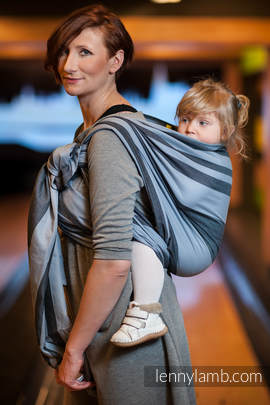 Baby Sling, Broken Twill Weave (bamboo + cotton) - Moon Rock - size XL (grad B)
