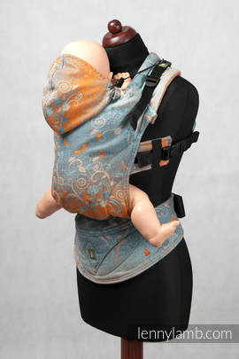 Ergonomic Carrier, Toddler Size, jacquard weave 100% cotton - wrap conversion from DREAM TREE, Reverse